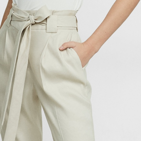 order search for authentic run shoes Express ankle high rise linen pants NWT